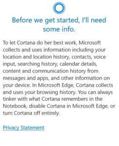 Microsoft Cortana Privacy Agreement